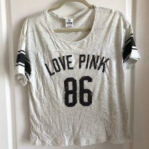 Love Pink Sequin T Shirt